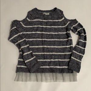 Abercrombie kids open shoulder sweater size 13/14